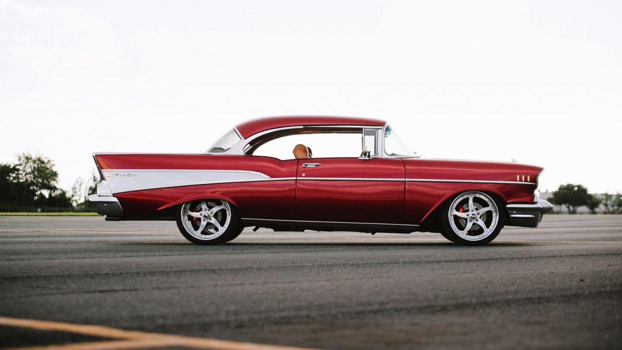 1957 CHEVROLET BEL AIR RESTO MOD cars wallpaper