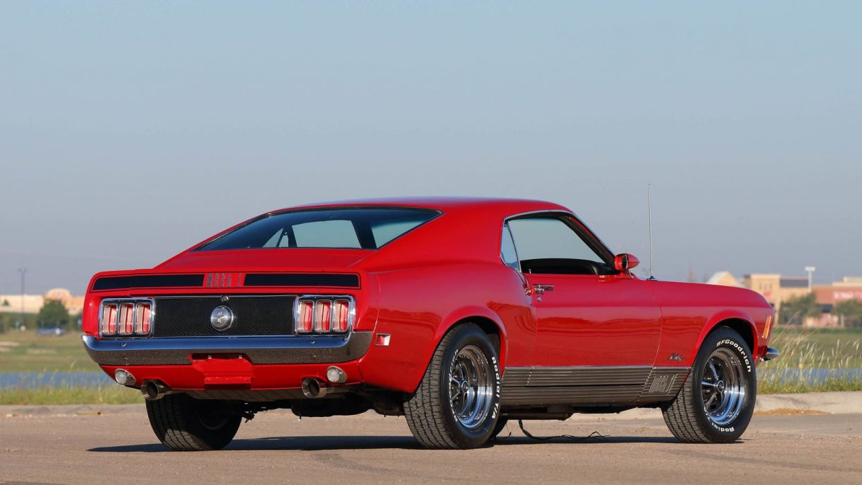 1970 FORD MUSTANG MACH-1 FASTBACK red cars wallpaper