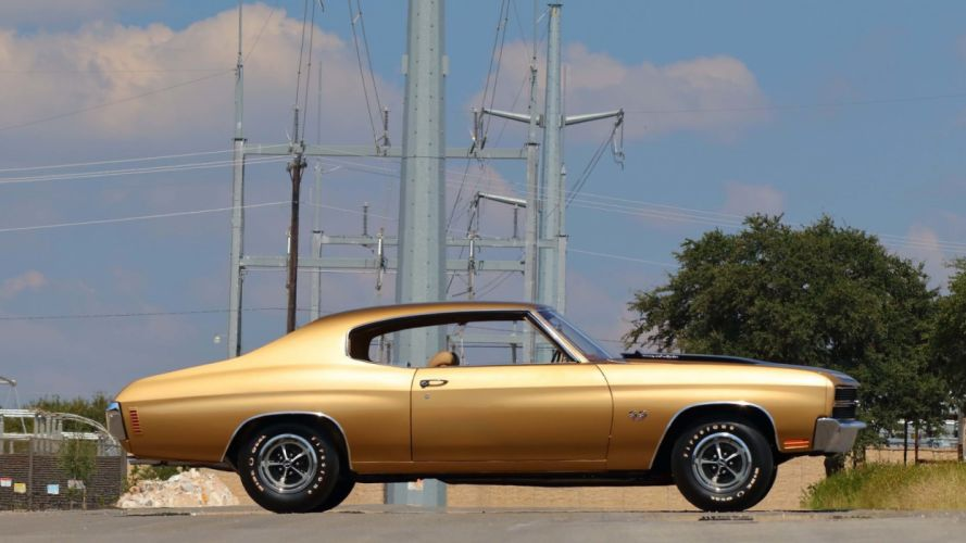 1970 CHEVROLET CHEVELLE LS6 454 coupe cars gold wallpaper