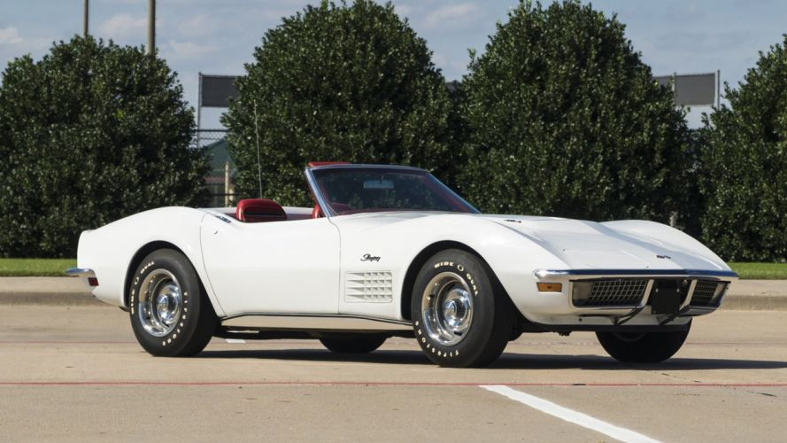 1970 CHEVROLET CORVETTE (c3) CONVERTIBLE white wallpaper
