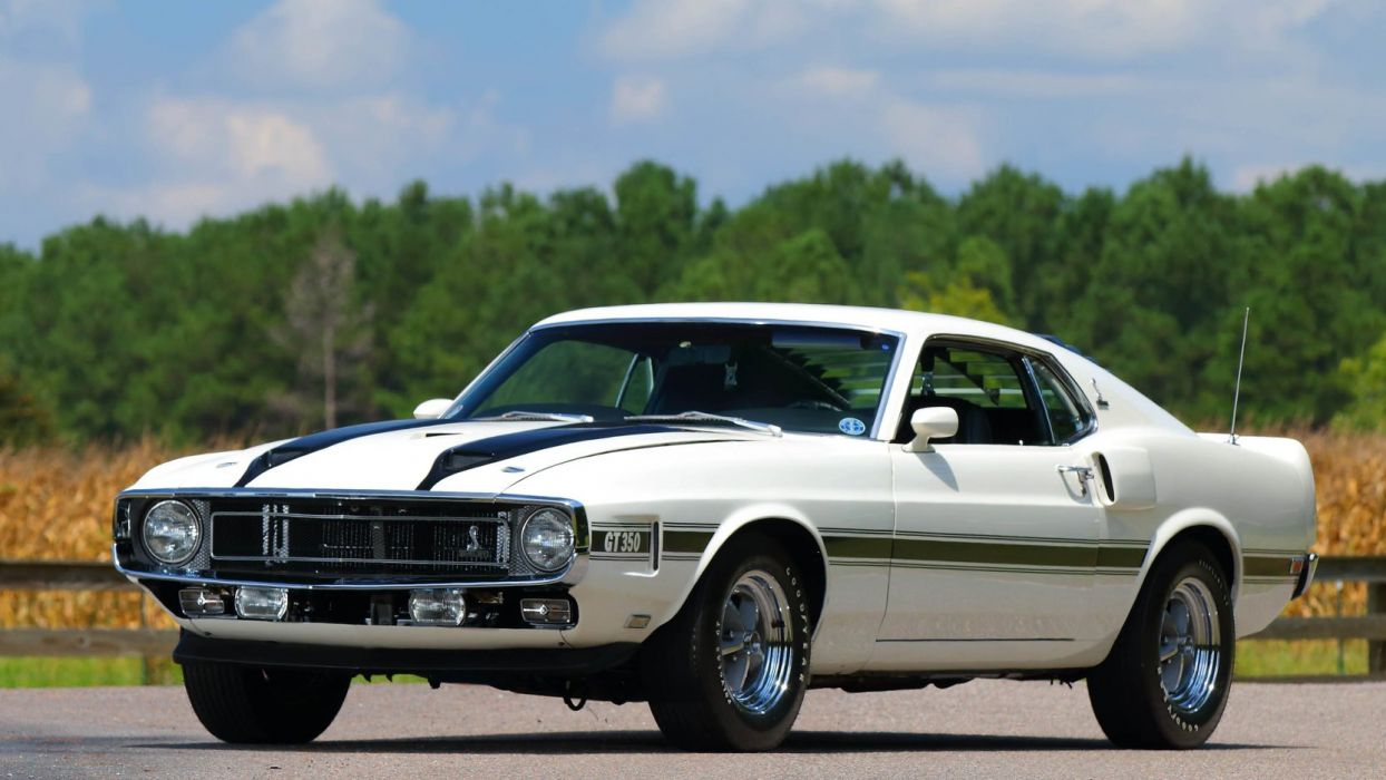 1970 SHELBY GT350 mustang FASTBACK white wallpaper