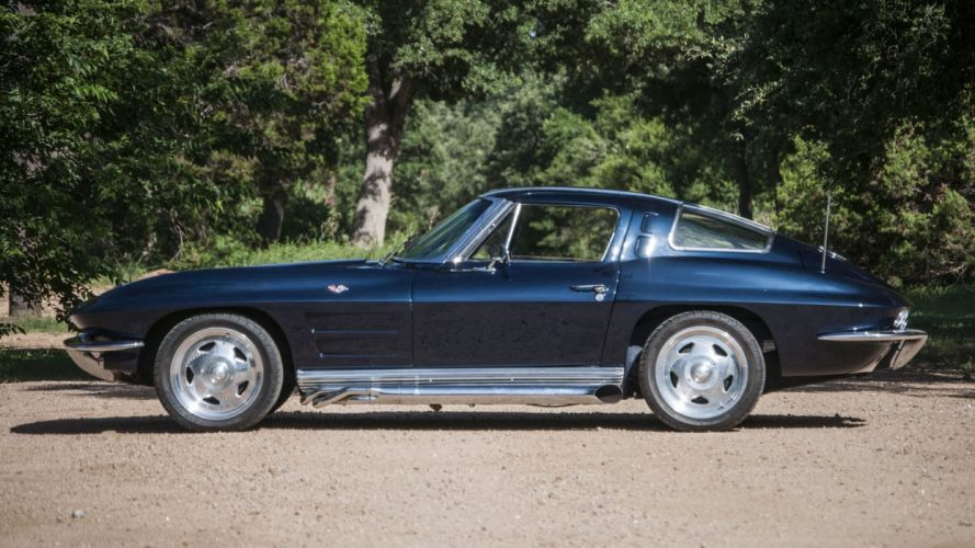 1963 CHEVROLET CORVETTE (c2) SPLIT WINDOW COUPE cars Blue wallpaper