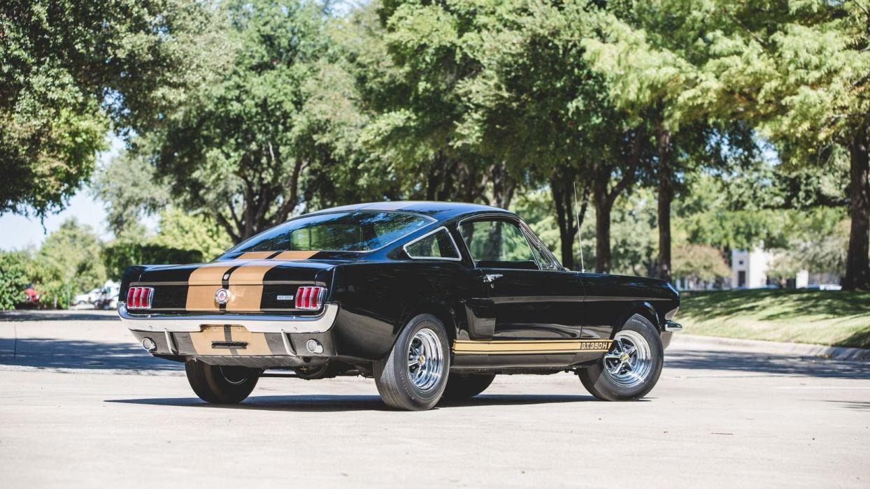 1966 SHELBY GT350 H FASTBACK Cars Black Wallpaper