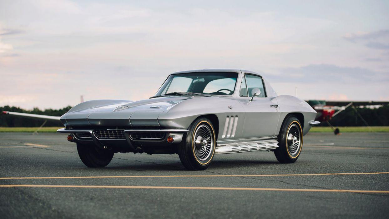 1966 Chevrolet Corvette C2 Coupe Silver Wallpaper 1664x936