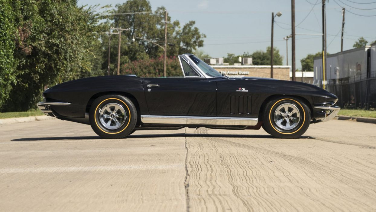 1965 CHEVROLET CORVETTE (c2) CONVERTIBLE black wallpaper