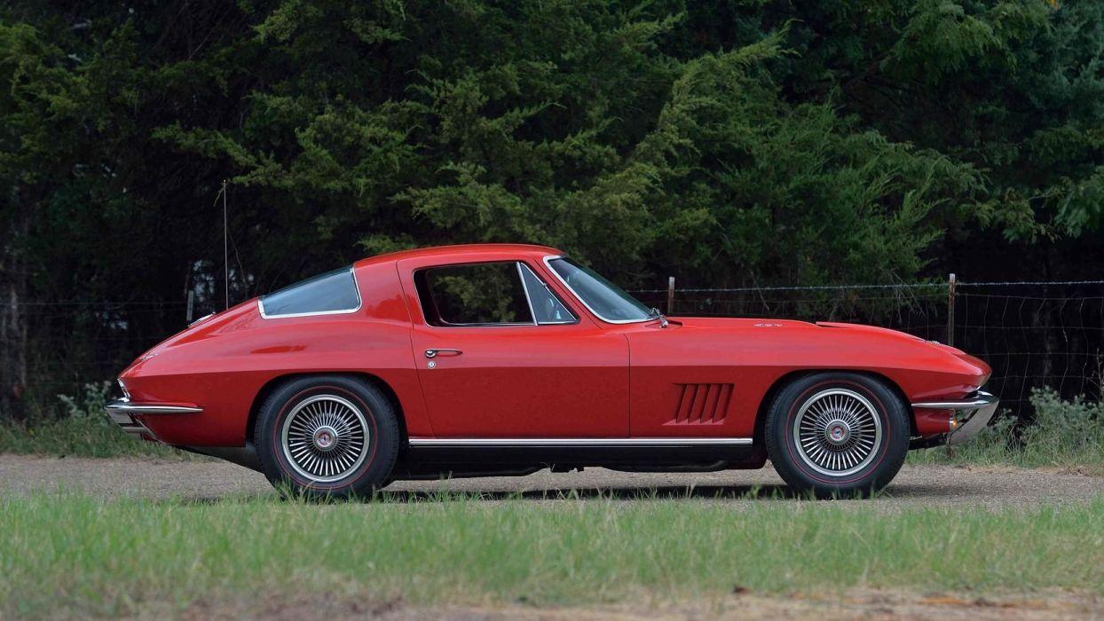1967 CHEVROLET CORVETTE (c2) COUPE cars red wallpaper