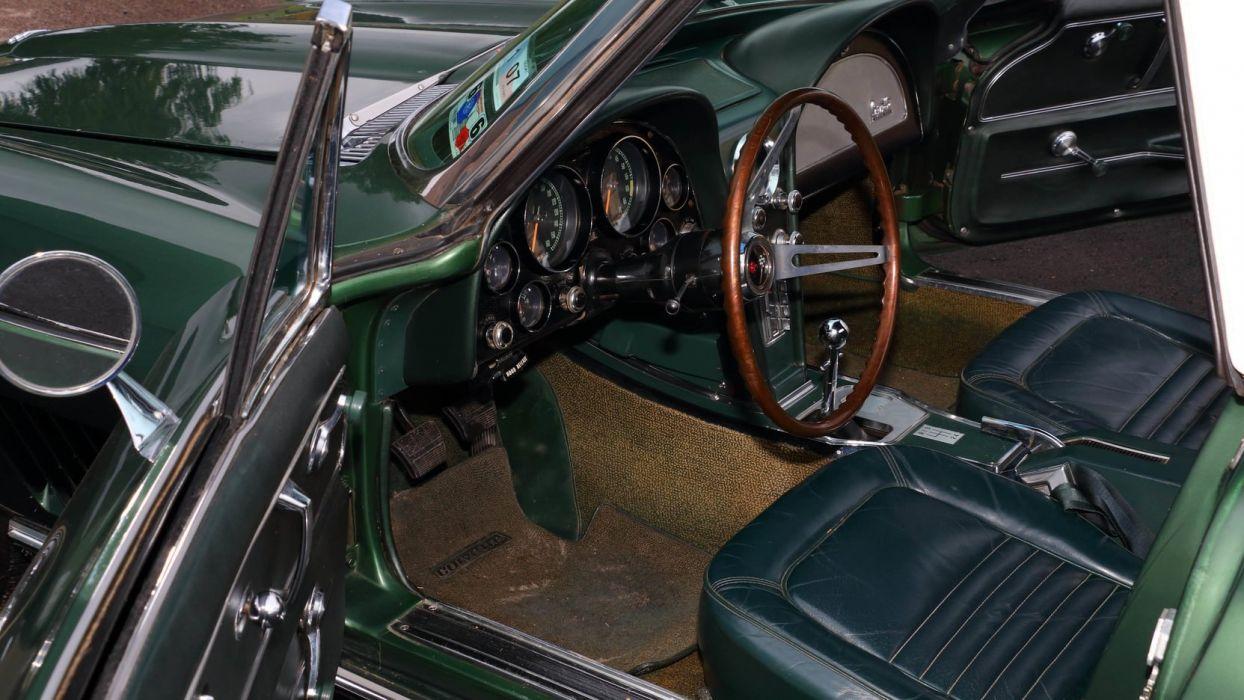1967 CHEVROLET CORVETTE (c2) CONVERTIBLE cars green wallpaper