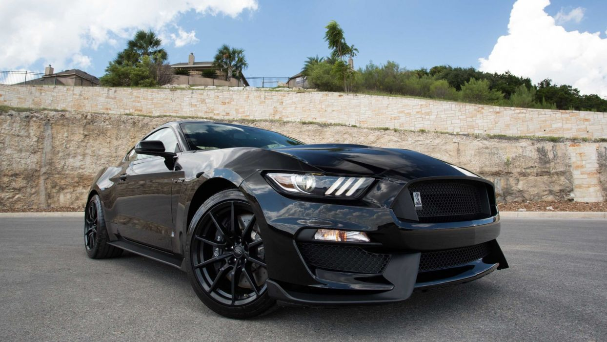 2015 FORD SHELBY GT350 50TH ANNIVERSARY cars black wallpaper