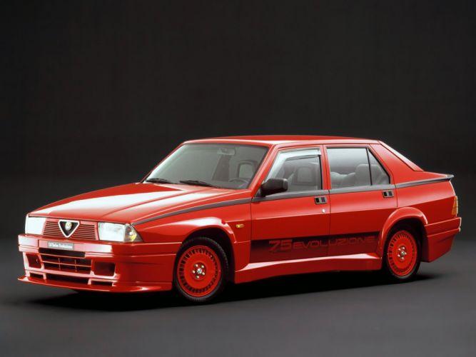 Alfa Romeo 75 1 8 Turbo Evoluzione 1987 wallpaper