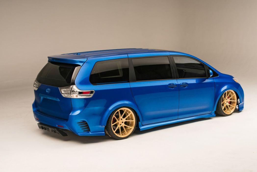 Toyota Extreme Sienna cars blue modified SEMA 2016 wallpaper