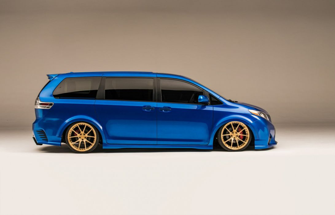 Toyota Extreme Sienna cars blue modified SEMA 2016 wallpaper