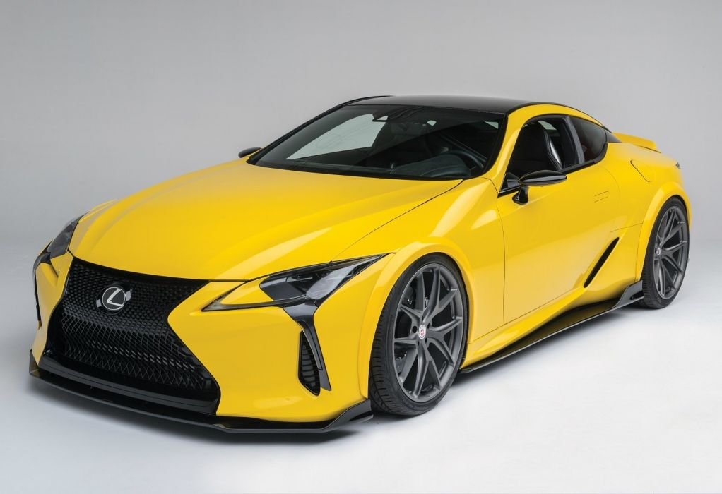 Lexus LC-500 Gordon Ting Beyond Marketing cars yellow SEMA 2016 wallpaper