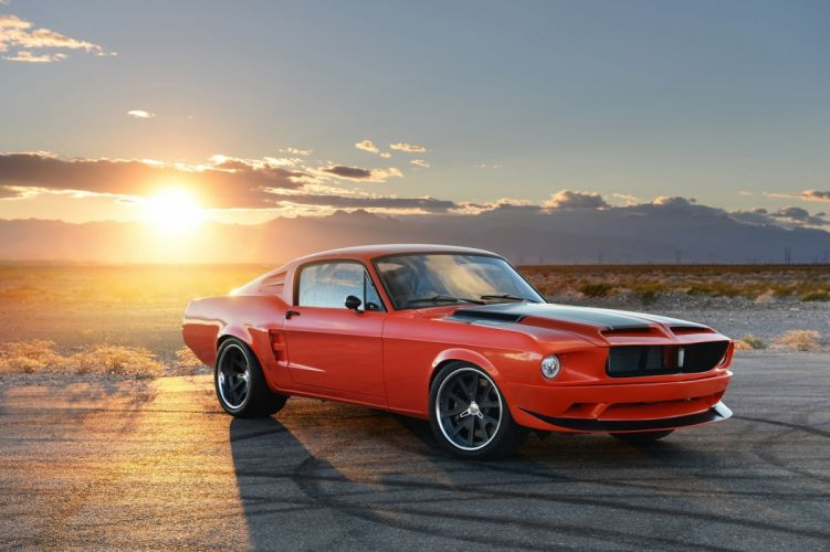 1968 CR-Supercars Ford Mustang fastback Villain cars modified 2014 orange wallpaper