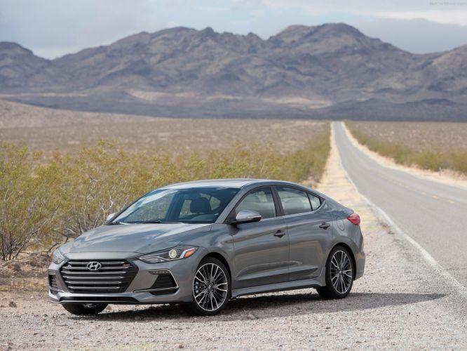 Hyundai Elantra Sport cars sedan 2016 wallpaper