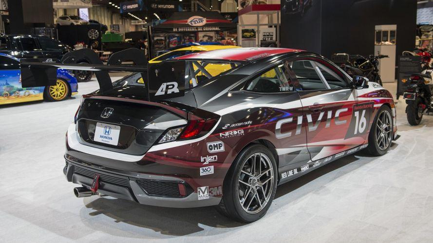 Honda Civic Coupe Racing Concept cars SEMA 2016 wallpaper