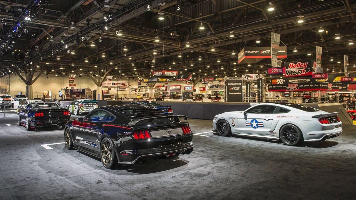 Ford Mustangs cars modified SEMA 2016 wallpaper