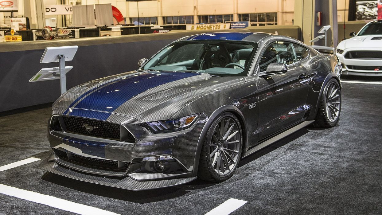 Ford Mustangs cars modified SEMA 2016 wallpaper