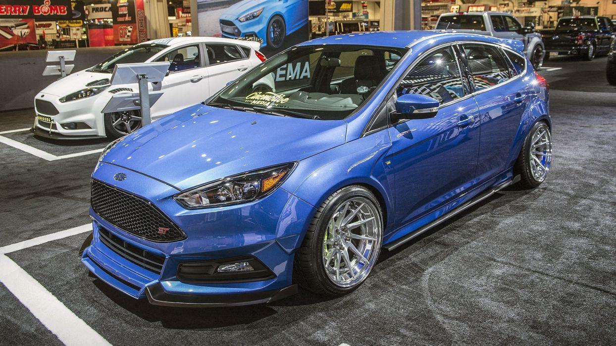 Ford focus fiesta cars modified SEMA 2016 wallpaper