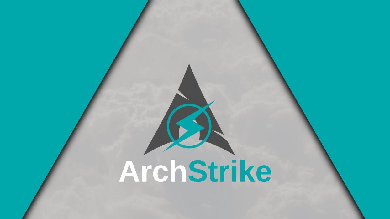 archstrike linux gnu archlinux cloud minimalism minimalist triangle logotype wallpaper