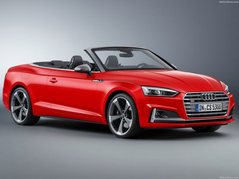 Audi (S5) Cabriolet cars red 2017 wallpaper