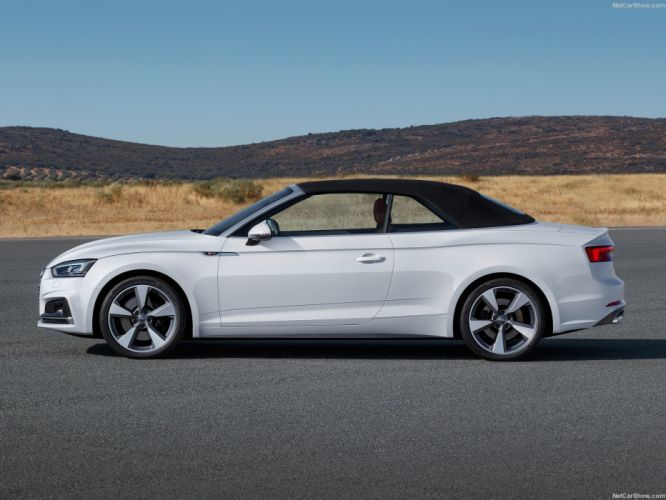 Audi (A5) Cabriolet cars WHITE 2017 wallpaper