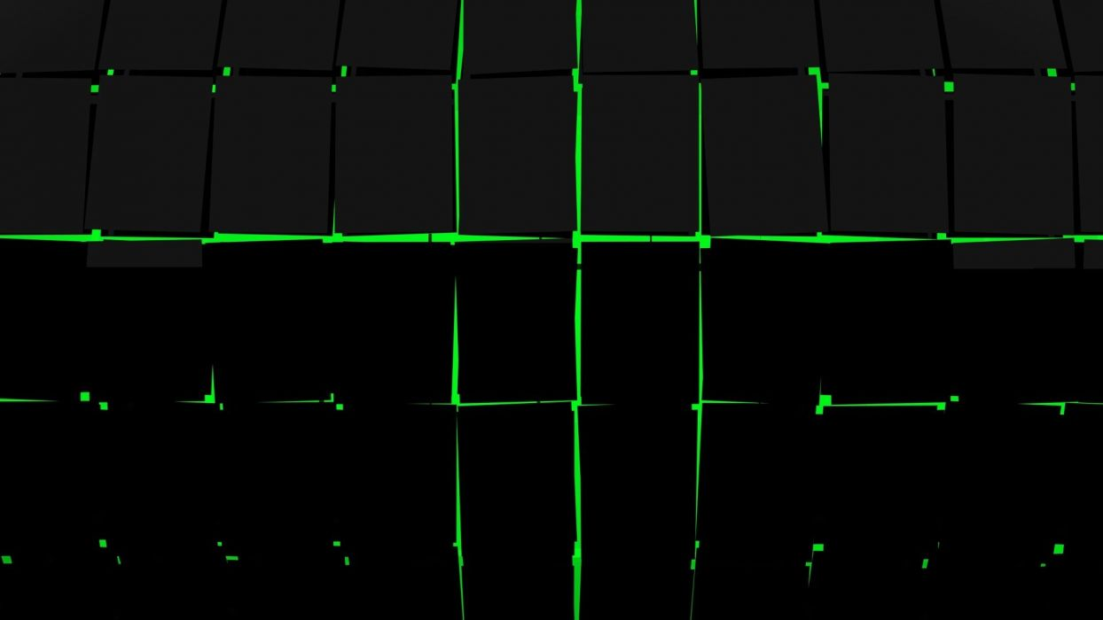 abstract science fiction graphic design green black wallpaper