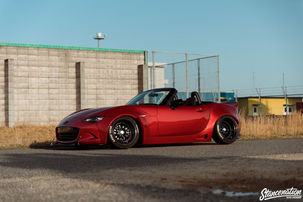 MAZDA MIATA mx-5 cars roadster red modified wallpaper