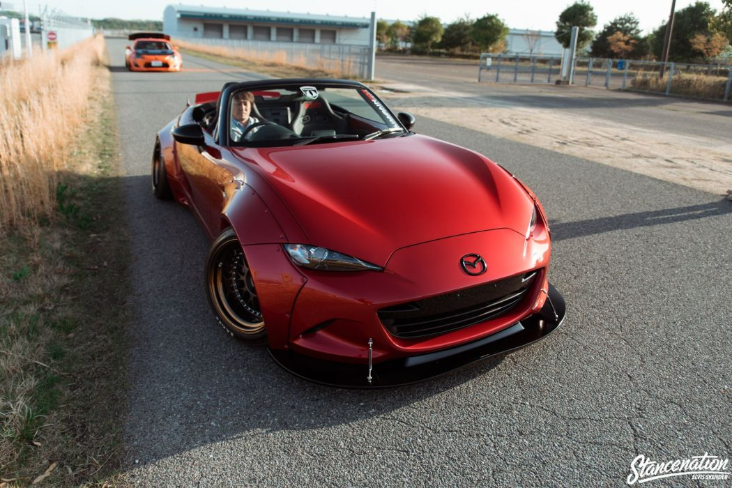 Mazda Miata Mx 5 Cars Roadster Red Modified Wallpaper 1920x1280
