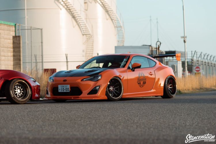 TOYOTA GT86 CARS coupe orange modified bodykit wallpaper