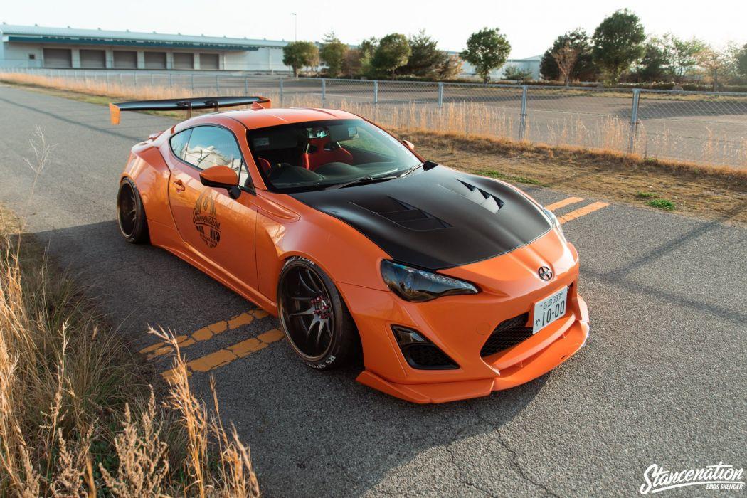 TOYOTA GT86 CARS coupe orange modified bodykit wallpaper