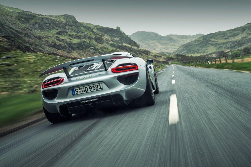 Porsche 918 Spyder cars supercars silver 2014 wallpaper