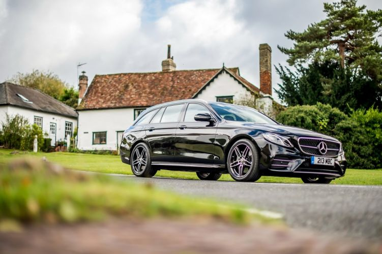 Mercedes AMG E43 4MATIC Estate wagon black UK-spec (S213) cars 2016 wallpaper