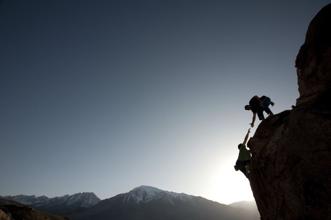 Cooperation Mountain Climbing Wallpaper