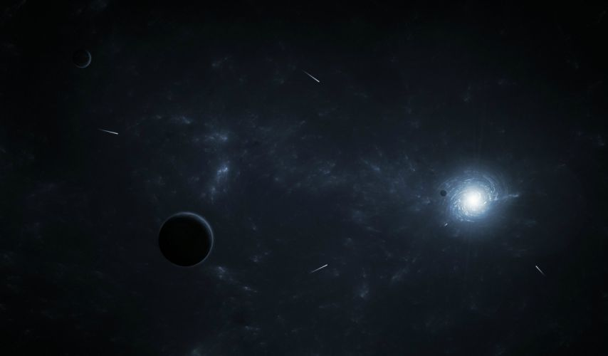 fantasy art space artwork planet meteors galaxy stars wallpaper