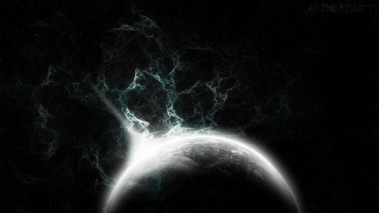 galaxy universe Zeus stars nebula planet space art wallpaper