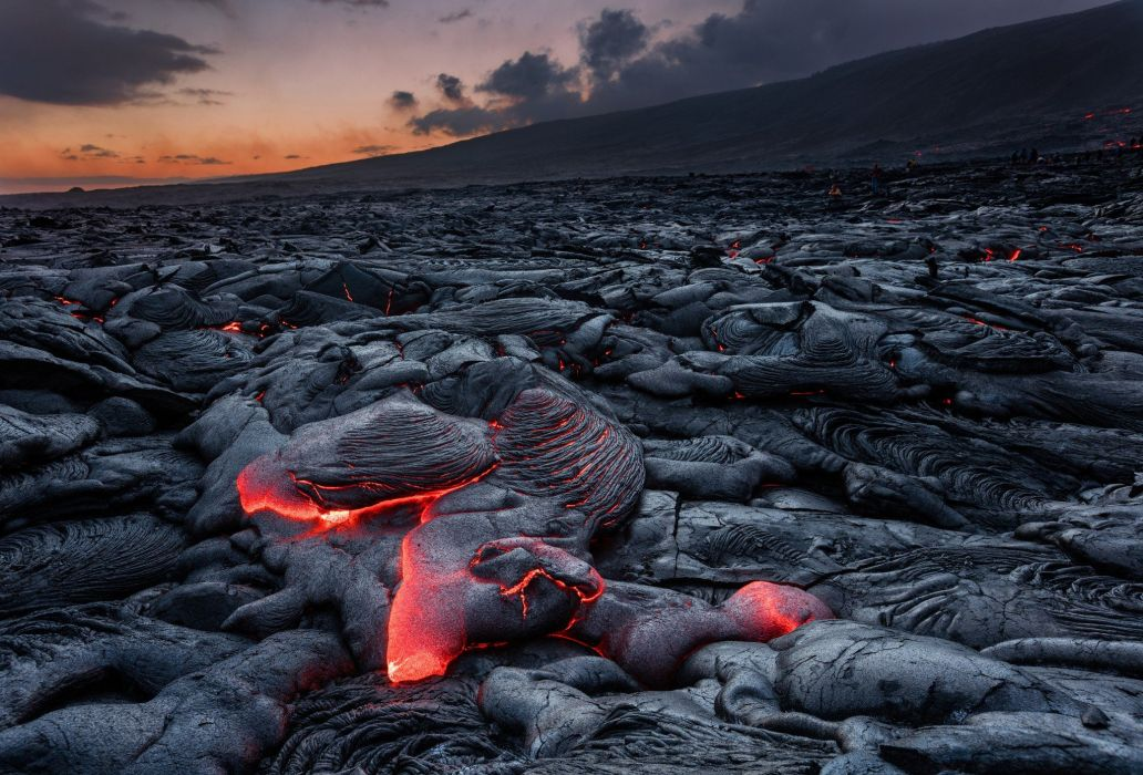 lava rocks mountains burning landscape nature wallpaper