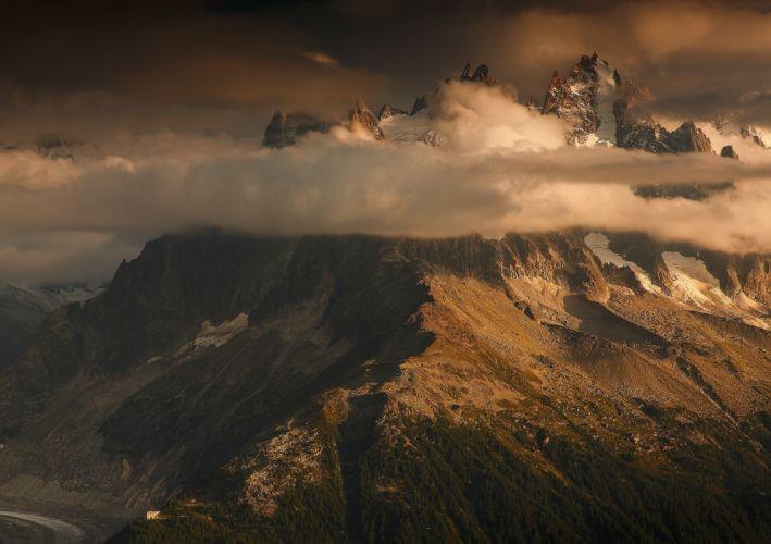 photography nature landscape mountains sunset clouds storm wallpaper