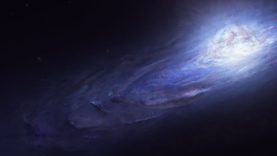 science fiction space galaxy universe stars nebula space art digital art wallpaper