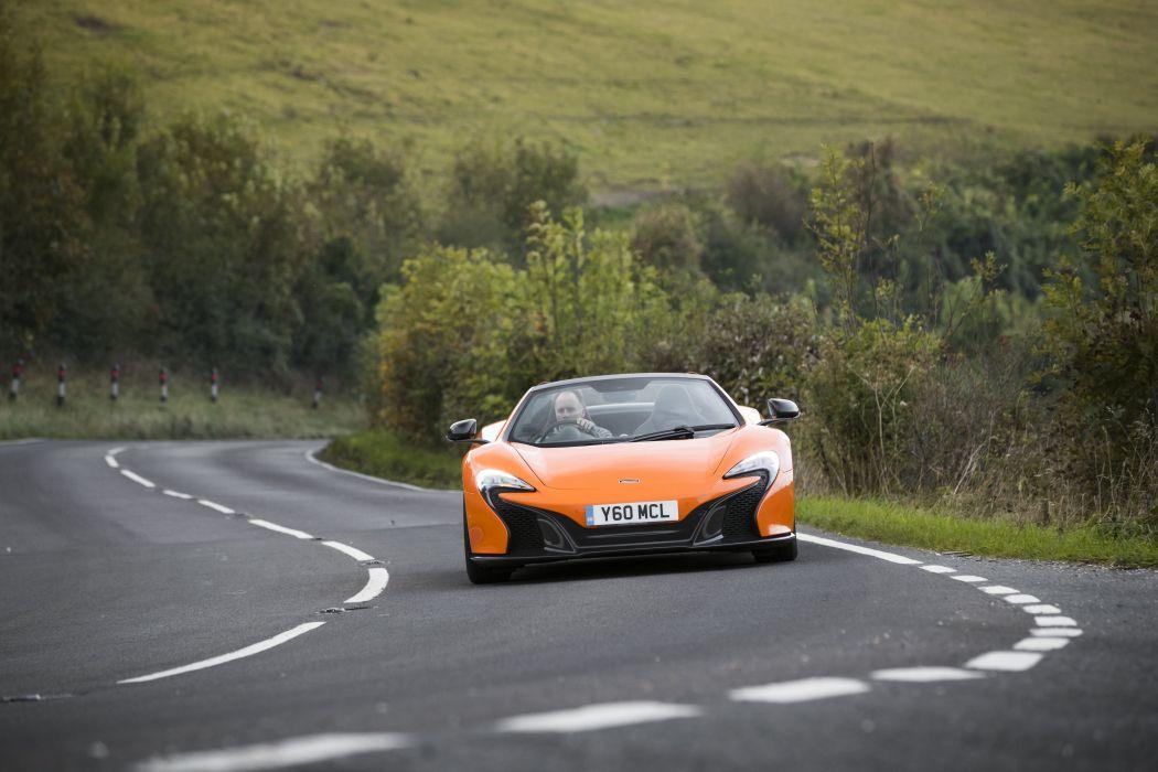 McLaren 650 Spider UK-spec cars orange 2014 wallpaper