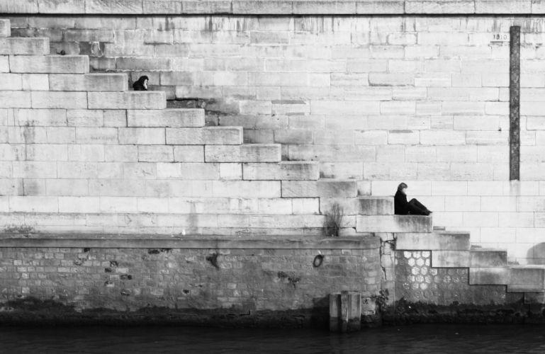 black-and-white-lake-relaxing-1135 wallpaper