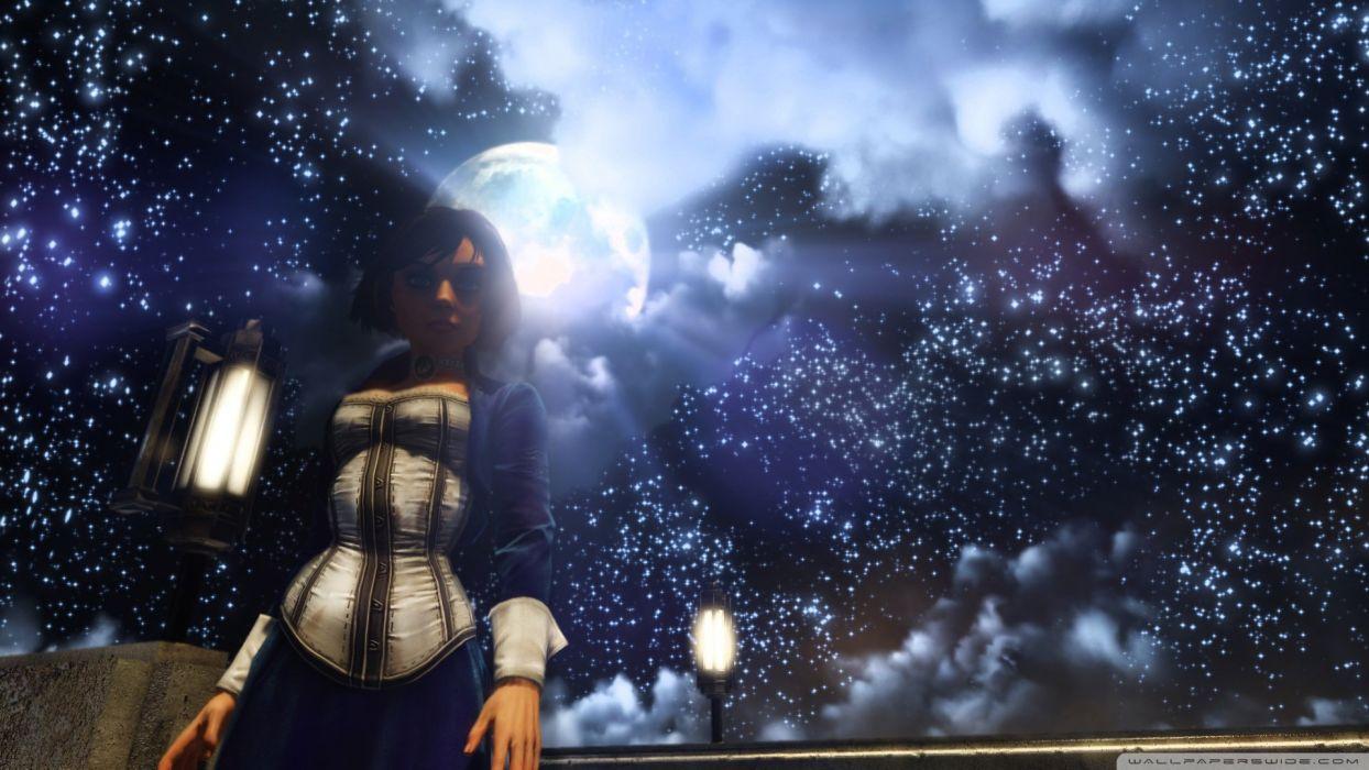 bioshock infinite elizabeth and the starry sky-wallpaper-1920x1080 wallpaper