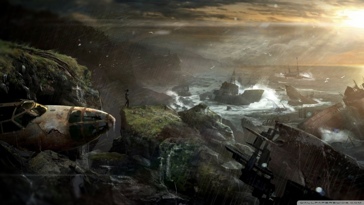 tomb raider 2012 shipwreck-wallpaper-1920x1080 wallpaper