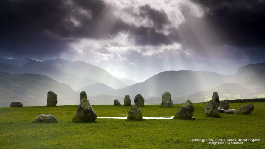 Castlerigg Stone Circle Cumbria United Kingdom wallpaper