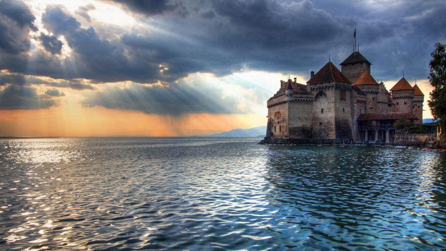 Chillon Castle 1920x1080 HDTV 1080p wallpaper
