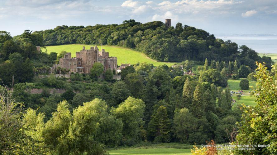 Dunster Castle Exmoor National Park England wallpaper