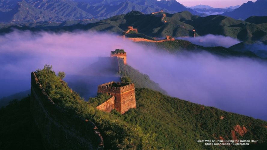 Great Wall of China During the Golden Hour wallpaper
