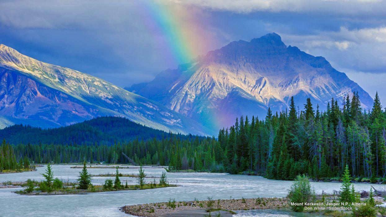 Mount Kerkeslin Jasper N P Alberta wallpaper