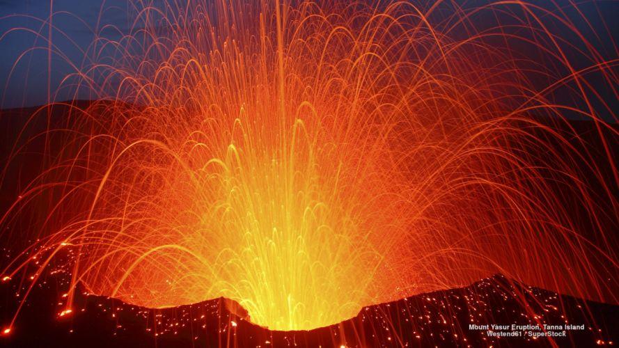 Mount Yasur Eruption Tanna Island wallpaper