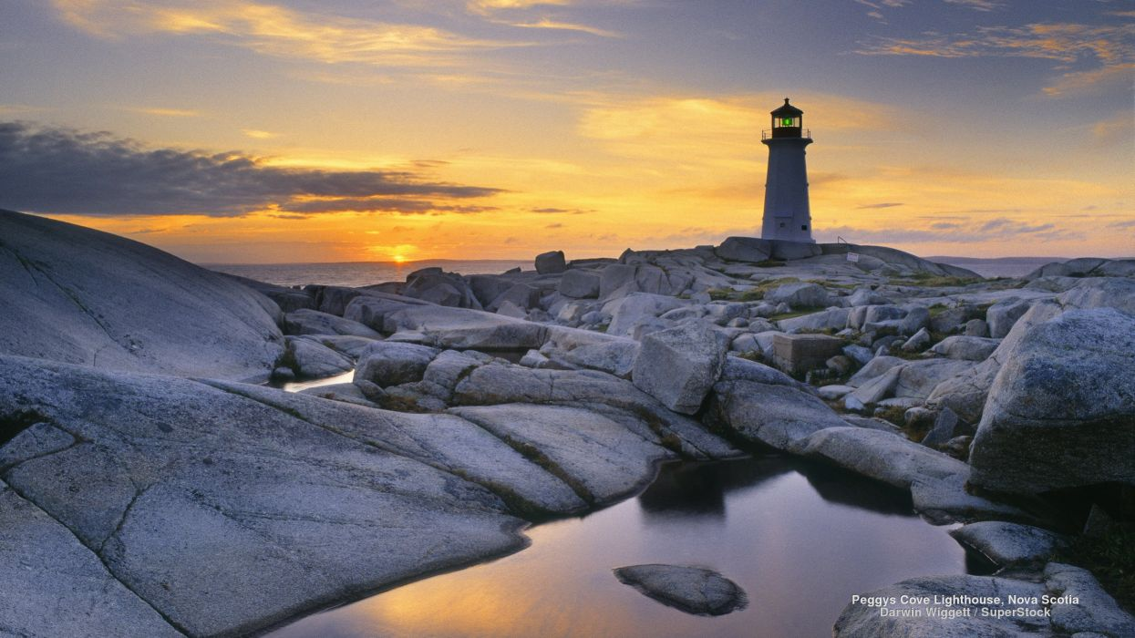 Peggys Cove Lighthouse Nova Scotia wallpaper