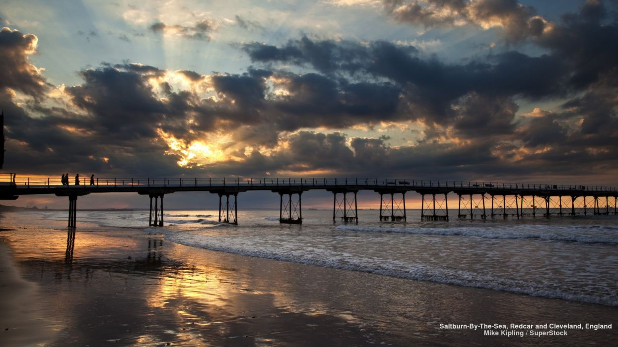 Saltburn-By-The-Sea Redcar and Cleveland England wallpaper